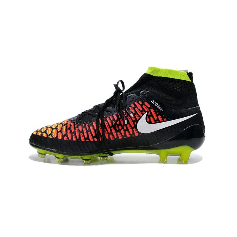 buy online 90ecf c29af High Top Nike Magista Obra FG ACC Soccer Cleats Black White Hyper Punch  Maximize. Previous. Next