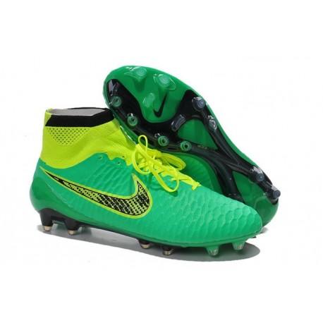 6882716ae967 High Top Nike Magista Obra FG ACC Soccer Cleats Green Black