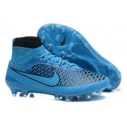 High Top Nike Magista Obra FG ACC Soccer Cleats Turquoise Blue