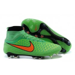 High Top Nike Magista Obra FG ACC Soccer Cleats Green Orange
