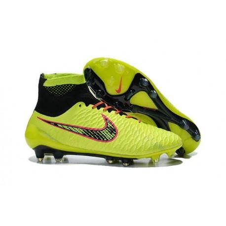027580134405 High Top Nike Magista Obra FG ACC Soccer Cleats Volt Black