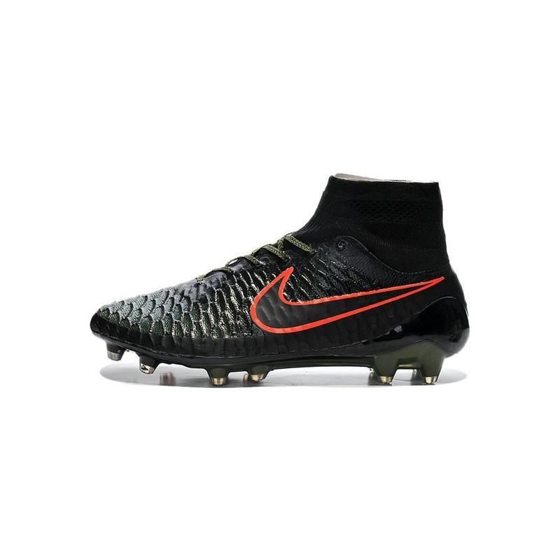 20c3d6223e88 High Top Nike Magista Obra FG ACC Soccer Cleats Black Green Crimson  Maximize. Previous. Next