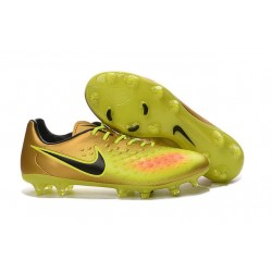 Nike Magista Opus II FG 2016 New Mens Soccer Cleats Gold Yellow Black