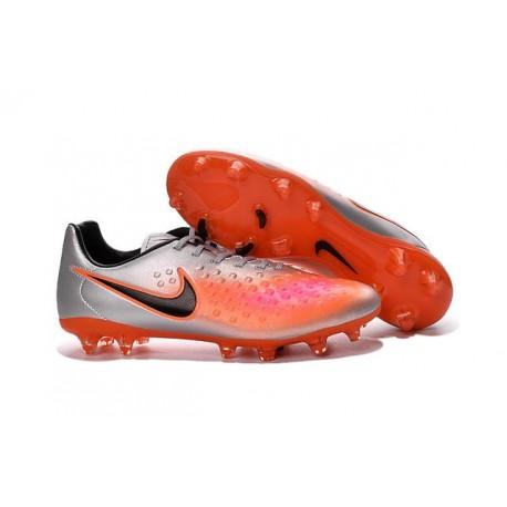 Nike Magista Opus II FG 2016 New Mens Soccer Cleats Silver Orange Black