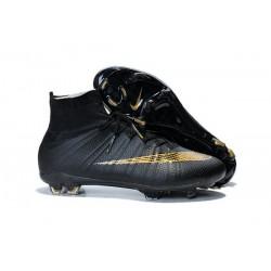 Nike Mercurial Superfly Iv Ronaldo CR7 FG Soccer Shoes Black Gold