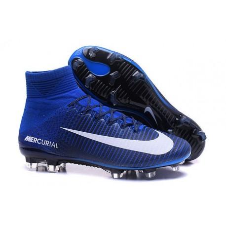 dd544a1ecaf Nike Mercurial Superfly 5 FG Cristiano Ronaldo Boots Blue White