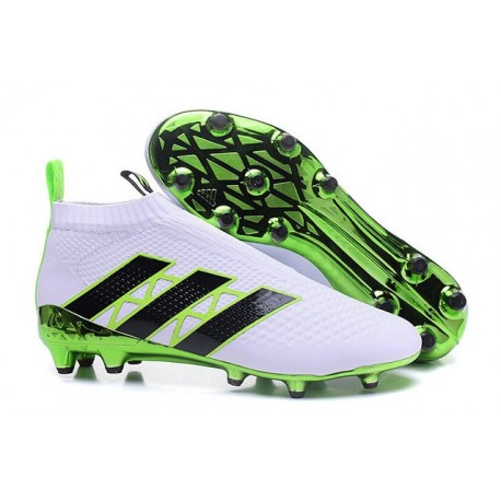 innovative design 5147b f1005 adidas ACE 16+ Purecontrol FG News 2016 Soccer Boot White Green Black