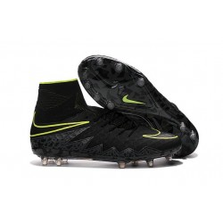 New 2016 Nike Hypervenom Phantom II FG ACC Neymar Cleat Black Volt