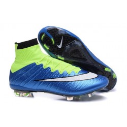 Nike Mercurial Superfly Iv Ronaldo CR7 FG Soccer Shoes Blue Lagoon White Volt