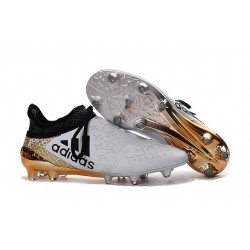 Top adidas X 16+ Purechaos FG Football Cleats White Black Gold