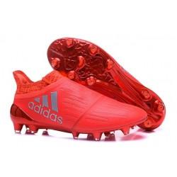 Top adidas X 16+ Purechaos FG Football Cleats Orange Silver