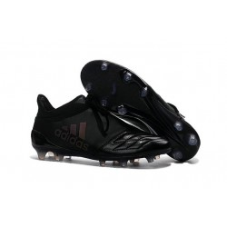 Top adidas X 16+ Purechaos FG Leather All Black Football Cleats