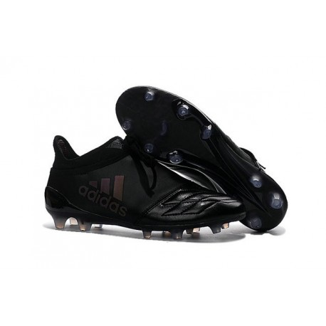 aeronave Desgastar analizar  Top adidas X 16+ Purechaos FG Leather All Black Football Cleats