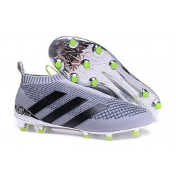 adidas ACE 16+ Pure Control FG Top Football Boots Silver Black