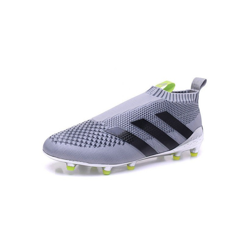 buy popular 661ef 2f2e6 adidas ACE 16+ Pure Control FG Top Football Boots Silver Bla