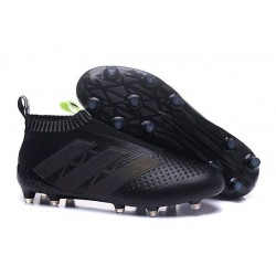 adidas ACE 16+ Purecontrol FG News 2016 Soccer Boot Core Black Solar Yellow