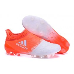 Top adidas X 16+ Purechaos FG Football Cleats White Red