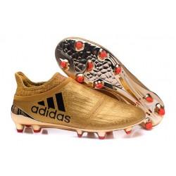 adidas X 16+ Purechaos FG News 2016 Soccer Shoes Gold Black