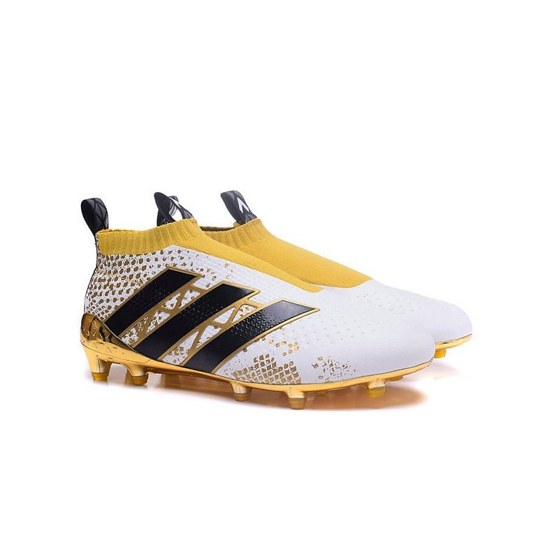 info for c0462 63ccd adidas Stellar Pack ACE 16+ Purecontrol FG News 2016 Soccer Boot White Gold  Black