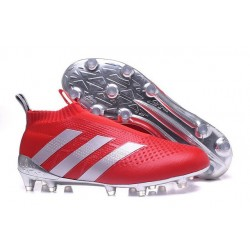 adidas ACE 16+ Purecontrol FG News 2016 Soccer Boot Red Silver