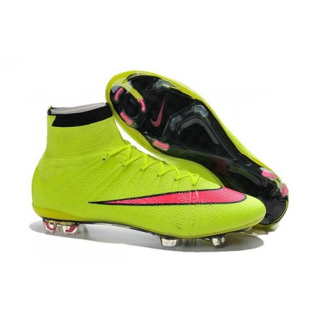 Nike Mercurial Superfly Iv Ronaldo CR7 FG Soccer Shoes Volt Pink