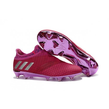 adidas Messi 16+ Pureagility FG/AG New Soccer Boots Red Silver