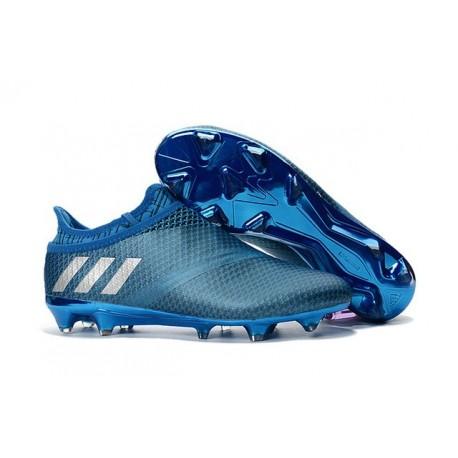 adidas Messi 16+ Pureagility FG/AG New Soccer Boots Shock Blue Silver Metallic