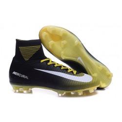 Nike Mercurial Superfly V FG Mens Football Boots Black Yellow White