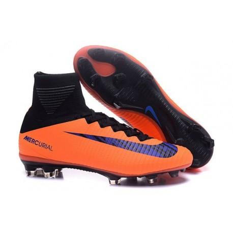 c67b4b910bf7 Nike Mercurial Superfly V FG Mens Football Boots Orange Purple