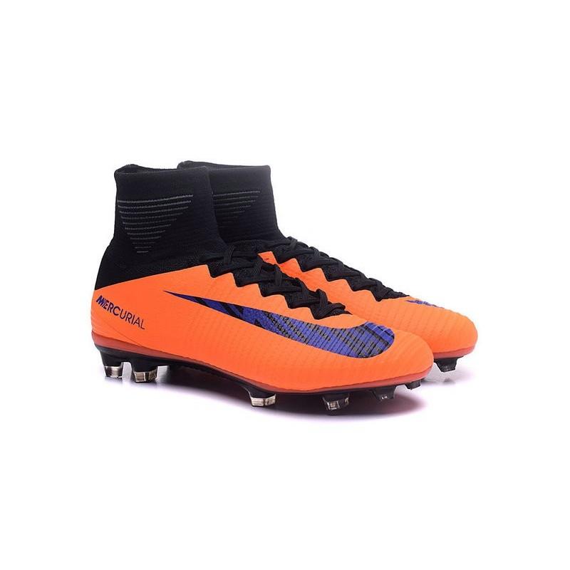 97ce88403 Nike Mercurial Superfly V FG Mens Football Boots Orange Purple