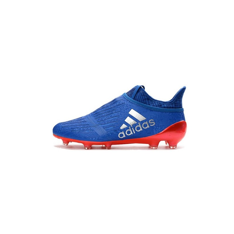 adidas X 16+ Purechaos FG News 2016 Soccer Shoes Blue Red Silver