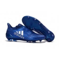 New Mens adidas X 16+ Purechaos FG/AG Cleats Blue Silver