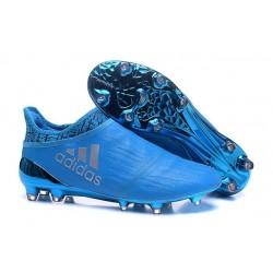 New Mens adidas X 16+ Purechaos FG/AG Football Boots Blue Silver
