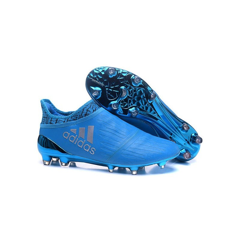 finest selection eb667 0d1dd New Mens adidas X 16+ Purechaos FG/AG Football Boots Blue Silver