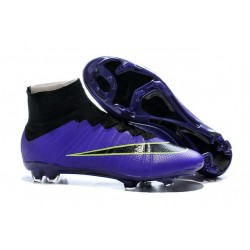 Nike Mercurial Superfly Iv Ronaldo CR7 FG Soccer Shoes Purple Black