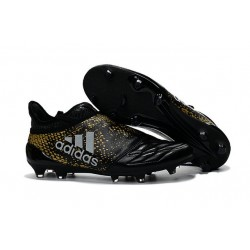 New Mens adidas X 16+ Purechaos FG/AG Cleats Black Gold