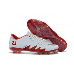 Nike Hypervenom Phinish FG Nike NJR Neymar x Jordan Football Boots White Red