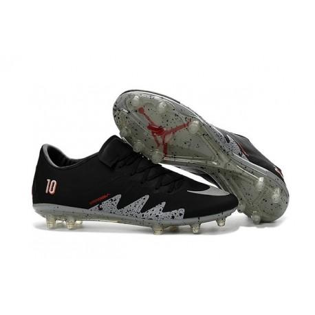 wholesale dealer 8215b fc5e9 Nike Hypervenom Phinish FG Nike NJR Neymar x Jordan Football Boots Black  Silver
