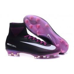 Nike Mercurial Superfly V FG Mens Football Boots Black White Purple