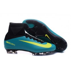 Nike Mercurial Superfly V FG Mens Football Boots Blue Yellow