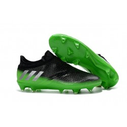 adidas Messi 16+ Pureagility FG/AG New Soccer Boots Black Green White