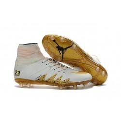 Nike NJR Hypervenom Phantom II Neymar x Jordan Cleats White Gold