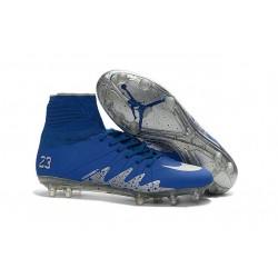 Nike NJR Hypervenom Phantom II Neymar x Jordan Cleats Blue Silver