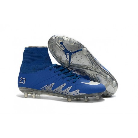 buy popular 42e32 90dd7 Nike NJR Hypervenom Phantom II Neymar x Jordan Cleats Blue Silver