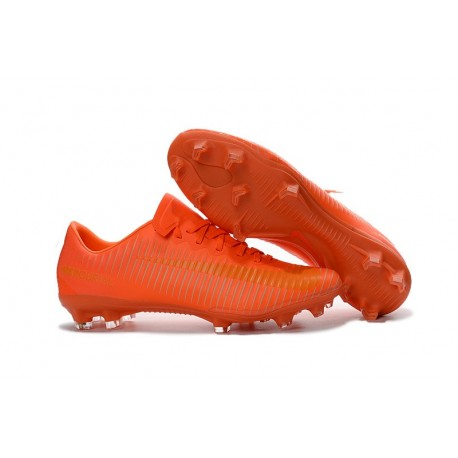 Nike Mercurial Vapor 11 FG Men Football Cleat All Orange