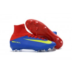 Nike Mercurial Superfly V FG Mens Football Boots Blue Red Yellow