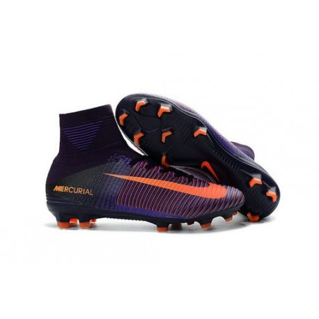 907fb0d8ce0c Nike Mercurial Superfly V FG Mens Football Boots Purple Orange