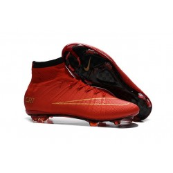 Nike C.Ronaldo Mercurial Superfly 4 FG Soccer Boot Red Gold