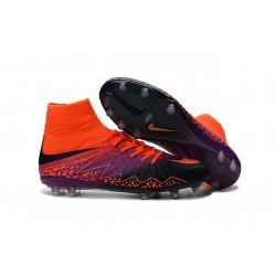 Men Nike Hypervenom Phantom II FG Soccer Boots Crimson Purple Black