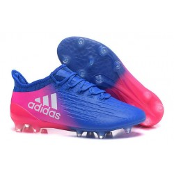 New 2016 adidas X 16.1 FG Firm Ground Soccer Boots Blue Pink White